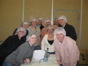Dr. Larsen and Friends At Feed My Starving Children
